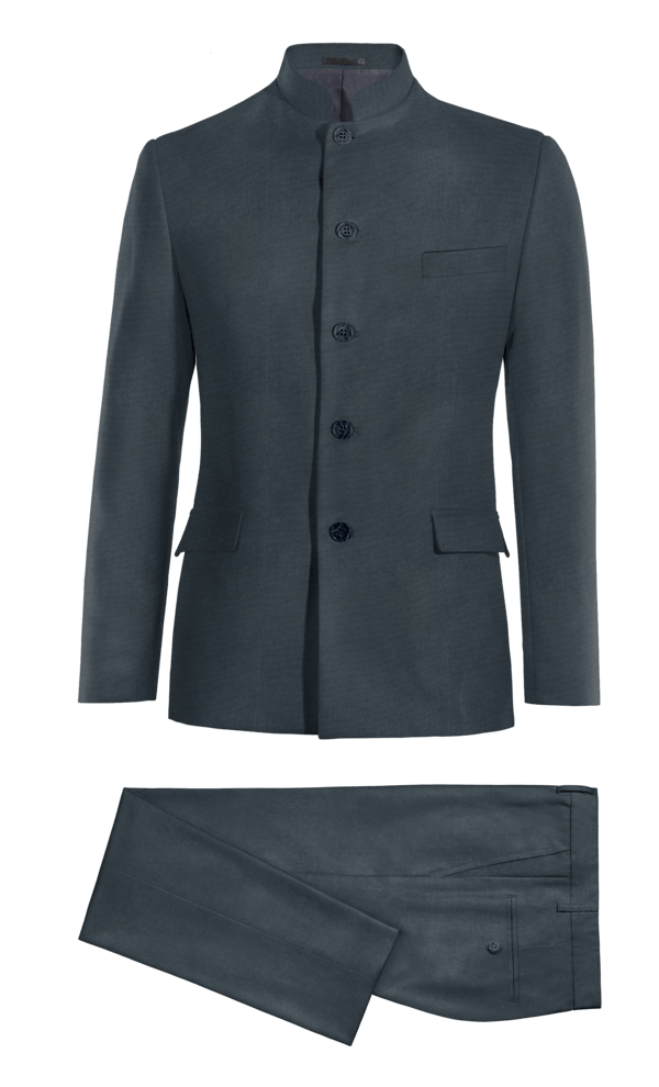 Blue Mao cotton Suit