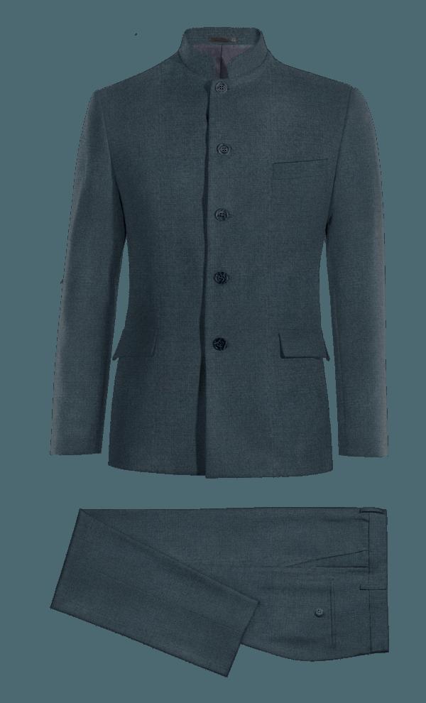 Blue Mao wool Suit
