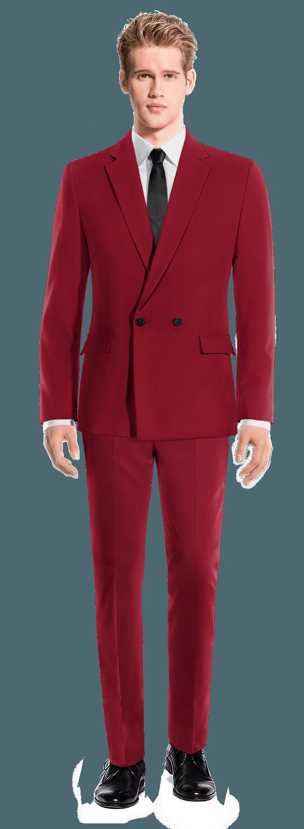 красный шерстяной Костюм
