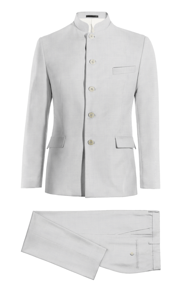 Costume blanc Mao en Laine