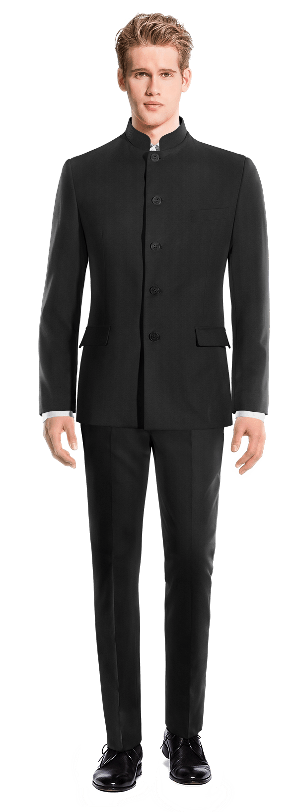 Black Mao wool Suit