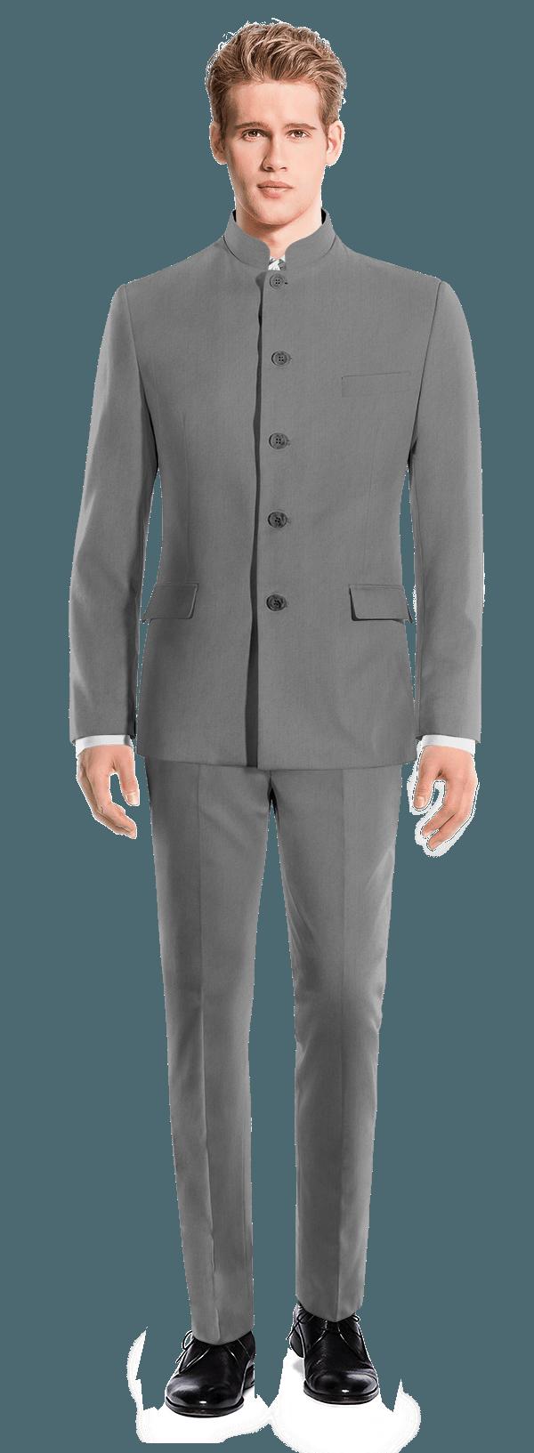 Grey Mao wool Suit