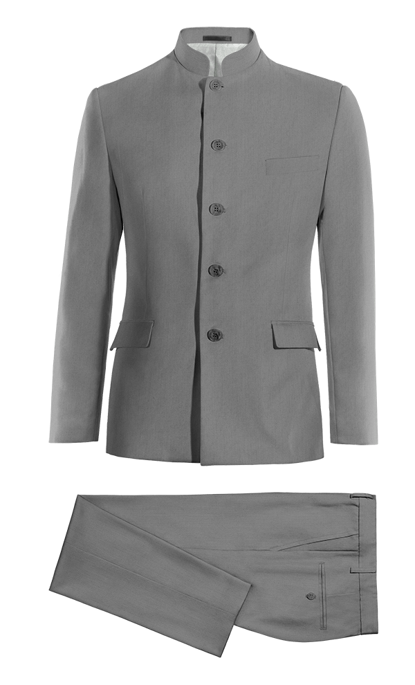 Grey Mao wool Suit