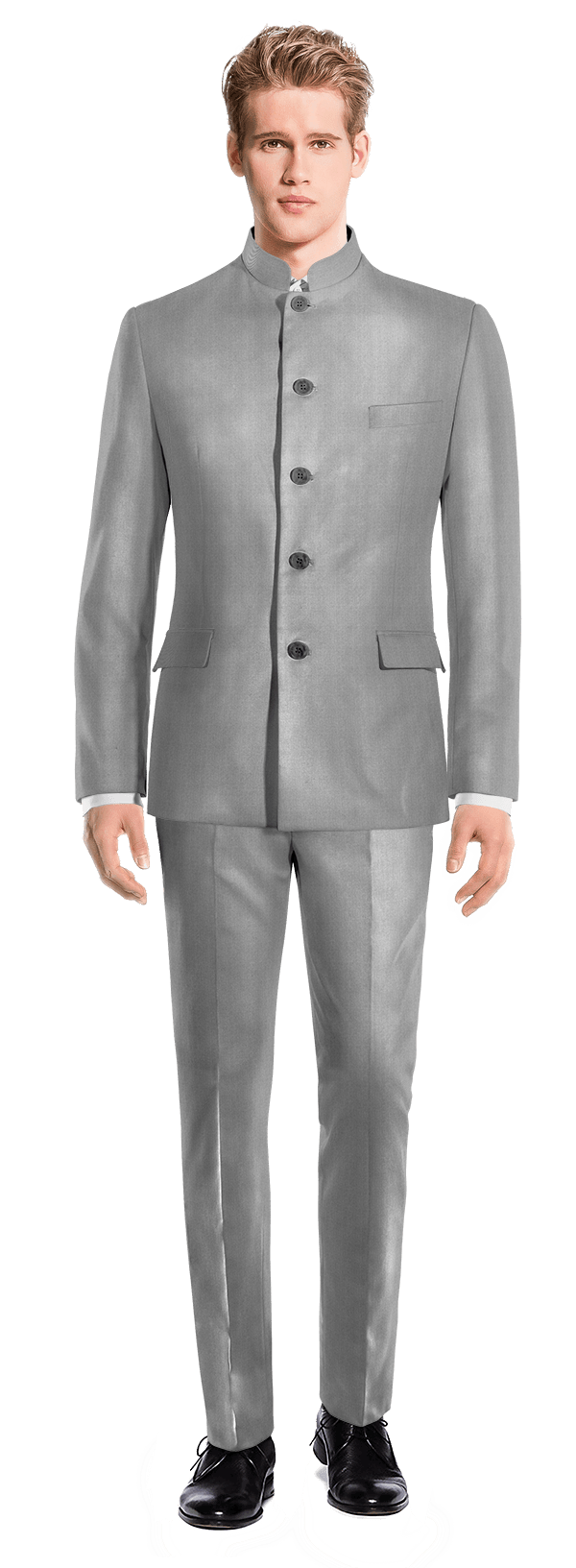 Grey Mao polyester Suit