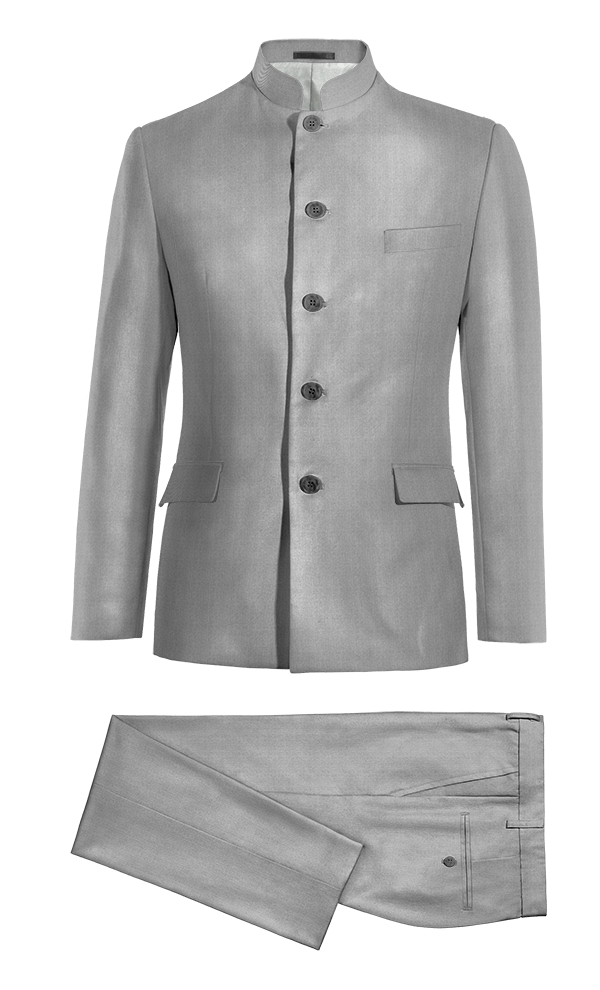 Costume gris Mao en Polyester