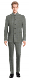 Grey Mao checked wool Suit-View Front
