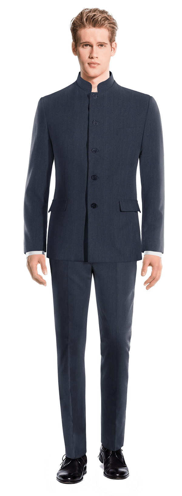 Blue Mao linen Suit