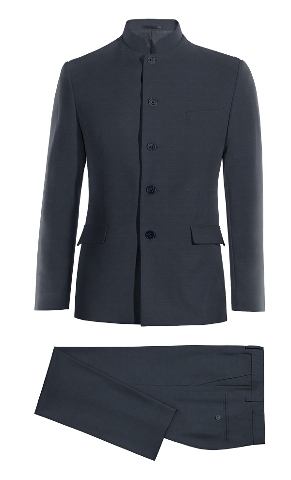 Blue Mao wool Suit