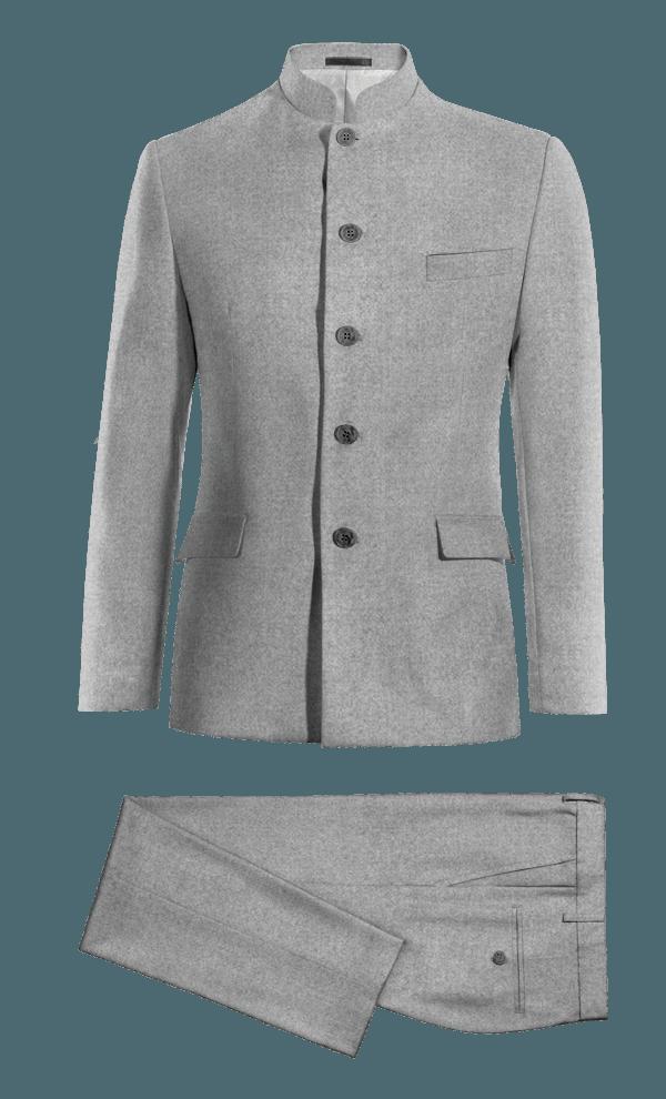 Costume gris Mao 100% laine