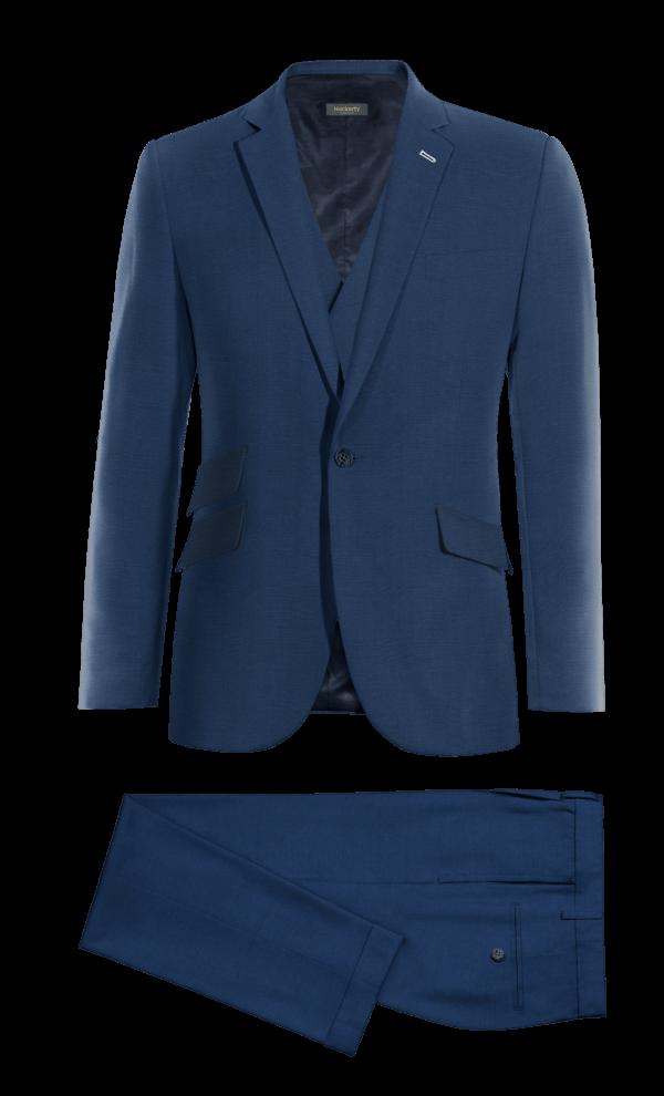 Costume bleu 3 pièces en Laine