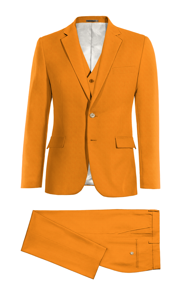 Costume orange 3 pièces en Coton