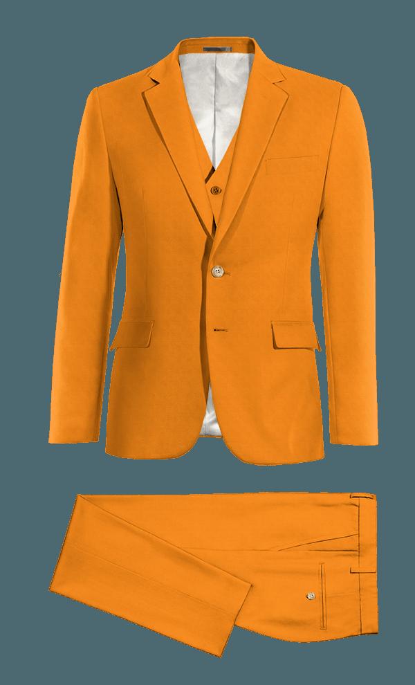 Abito 3 pezzi arancione di Cotone