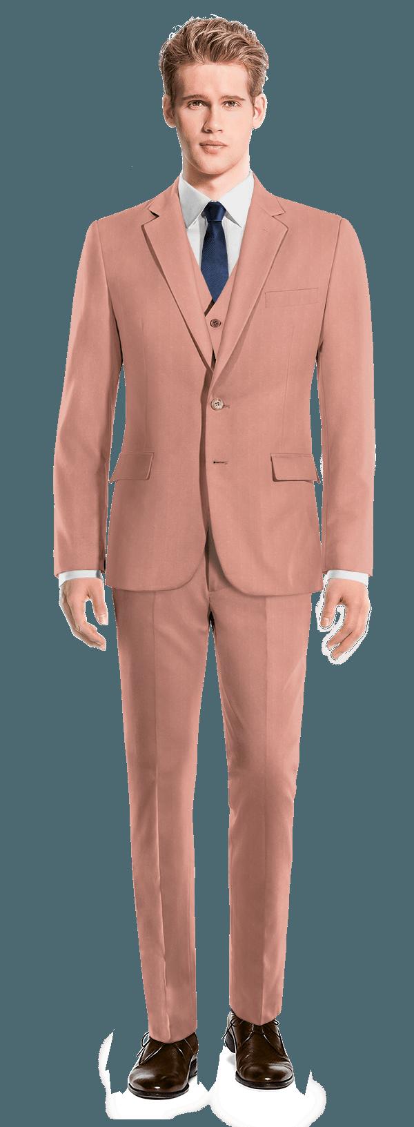 Pink 3-Piece cotton Suit