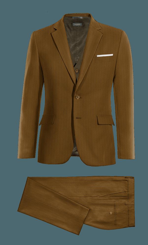 Costume marron 3 pièces en Velours côtelé