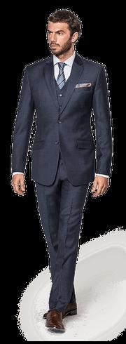 Blue 3-Piece Merino wool Suit-resized-12