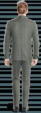 Costume gris 3 pièces à carreaux en Laine-Vue Dos