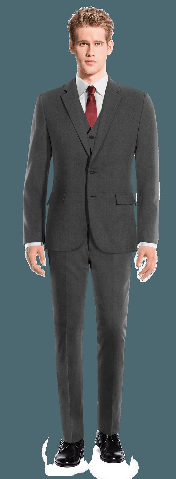 Grey 3-Piece Merino wool Suit