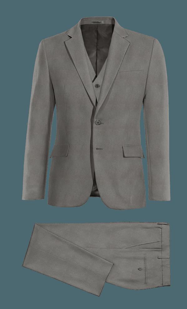 Grey 3-Piece linen Suit