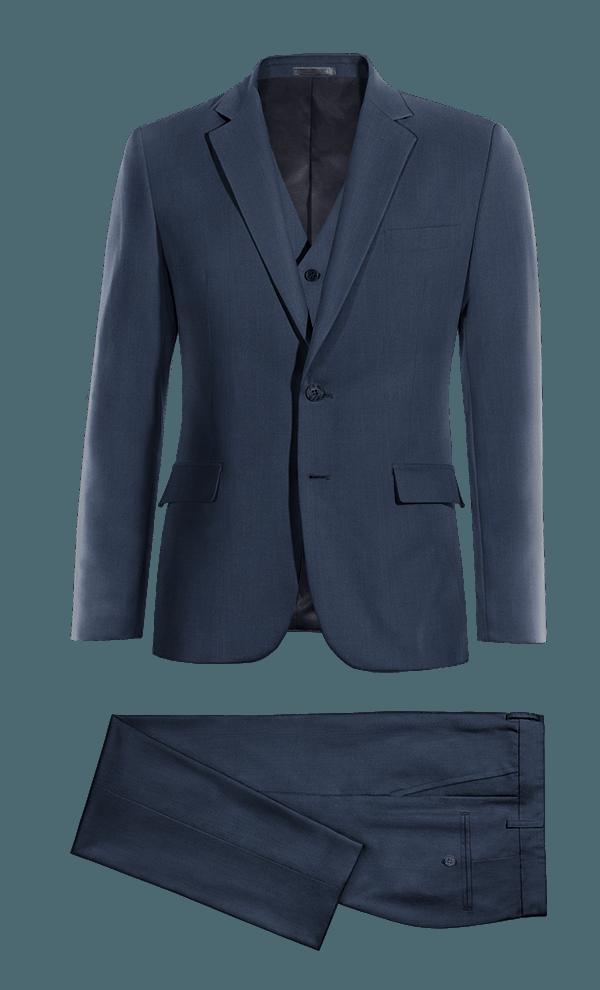 Costume bleu 3 pièces 100% laine