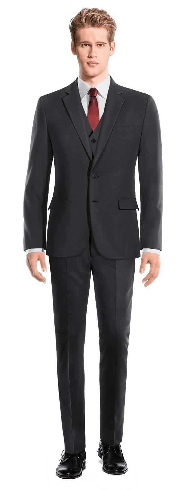 Blue 3-Piece Merino wool Suit