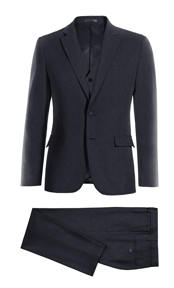 Blue 3-Piece cotton Suit