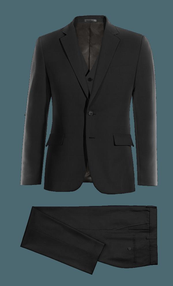 Black 3-Piece cotton Suit