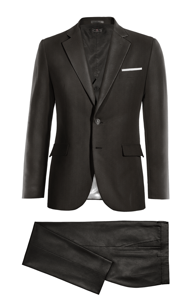 Black 3-Piece polyester Suit