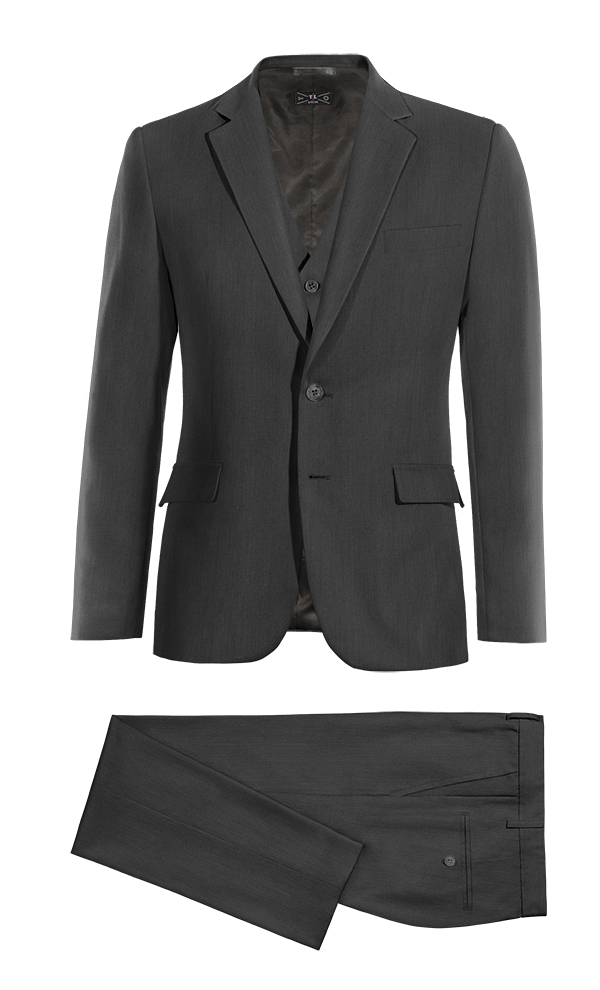 Grey 3-Piece wool Suit