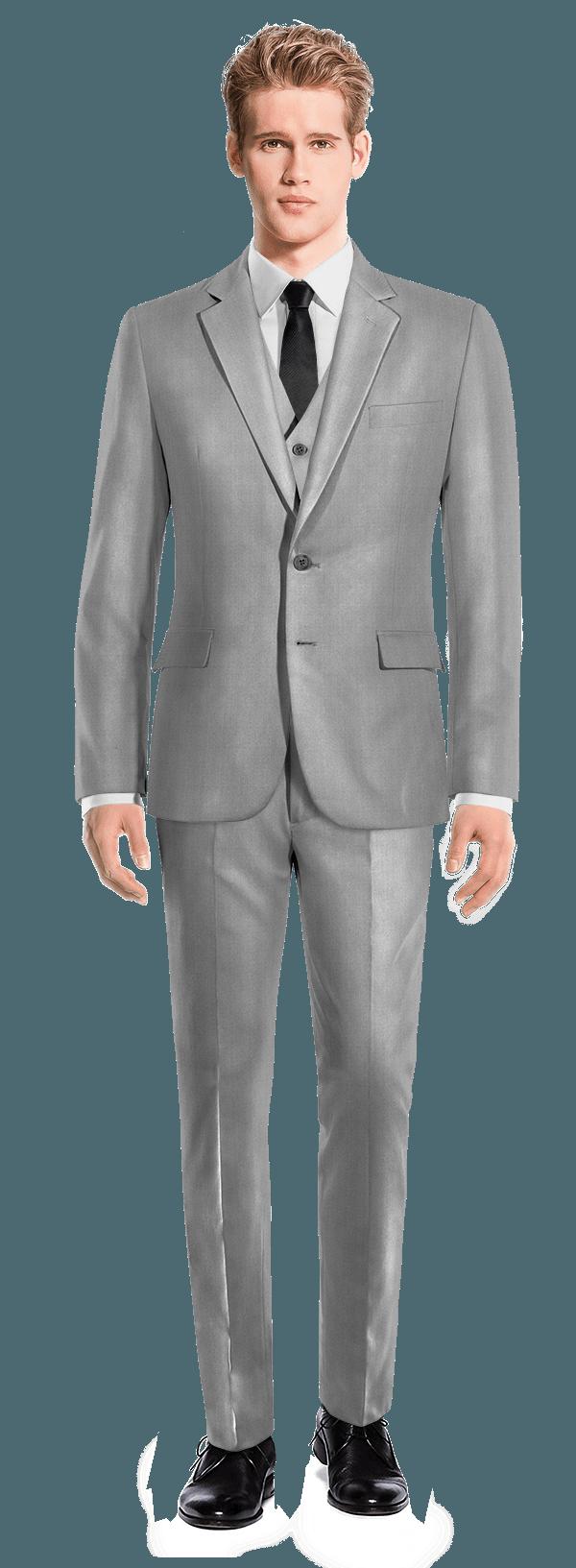 Costume gris 3 pièces en Polyester
