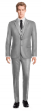 Costume gris 3 pièces en Polyester-Vue Avant