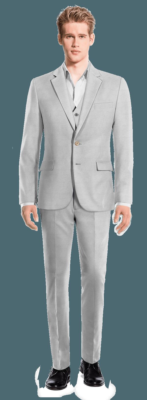 Costume gris 3 pièces en Lin