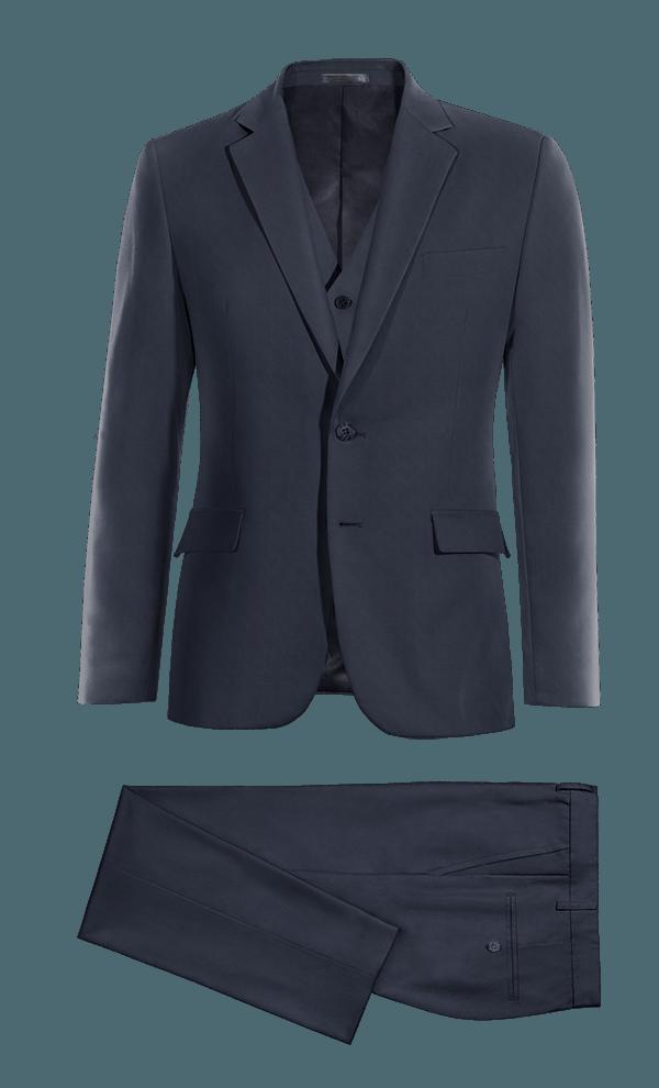 Blue 3-Piece wool Suit