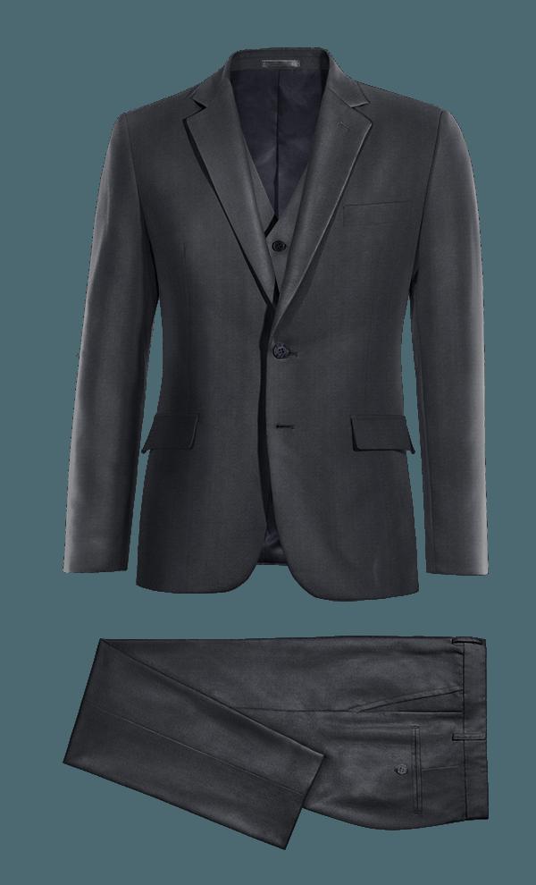 Blue 3-Piece polyester Suit