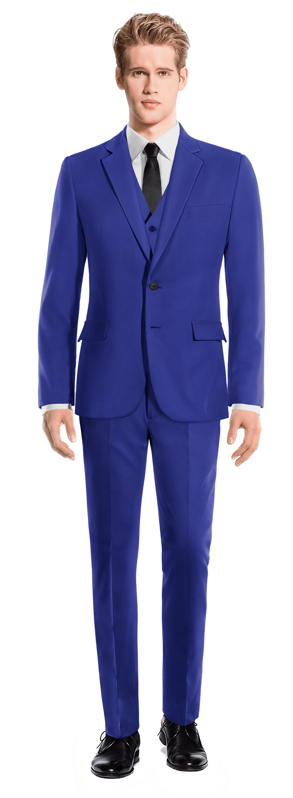 Blue 3-Piece wool Suit
