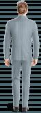 Costume bleu 3 pièces à rayures en Lin-Vue Dos