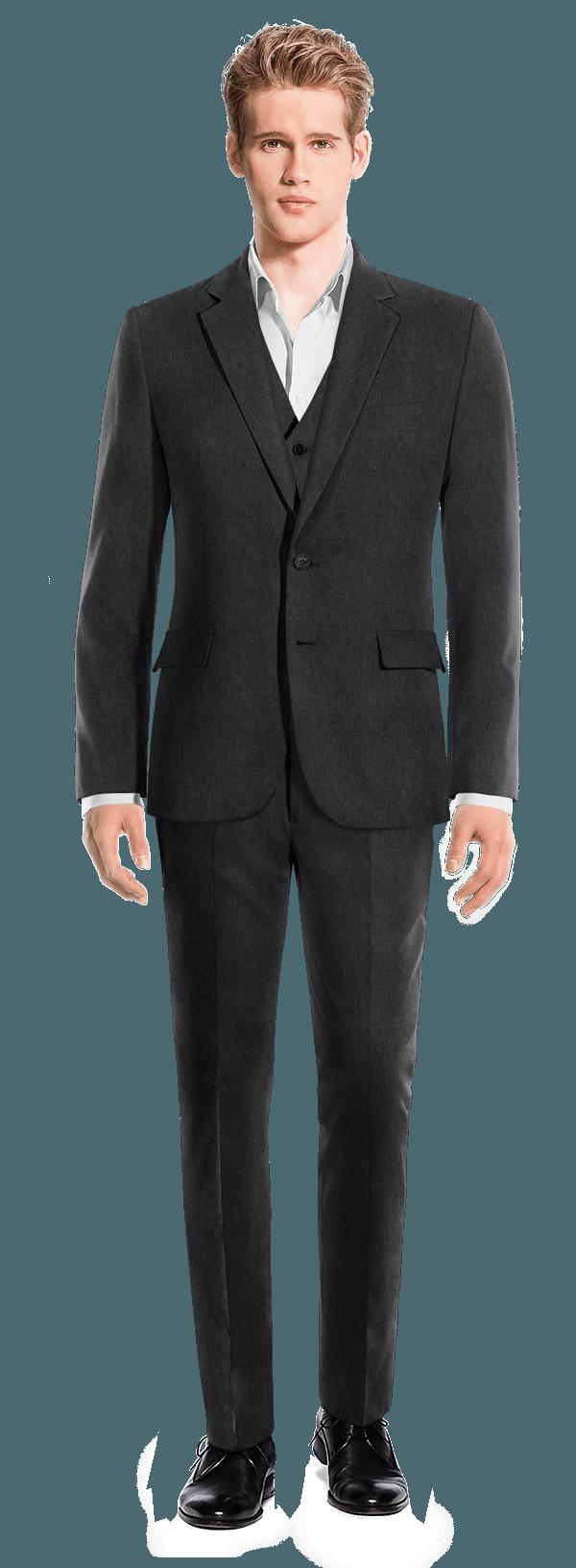 черный хлопковый Костюм-тройка