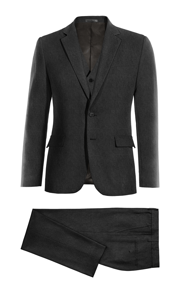 Black 3-Piece linen Suit
