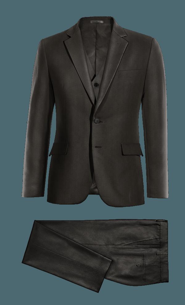 Black 3-Piece polyester Suit