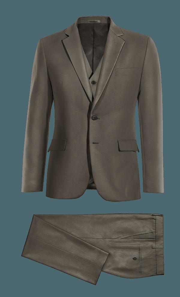 Costume marron 3 pièces en Polyester