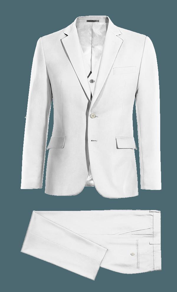 Costume blanc 3 pièces en Lin