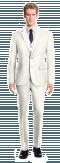 Costume blanc 3 pièces en Polyester-Vue Avant