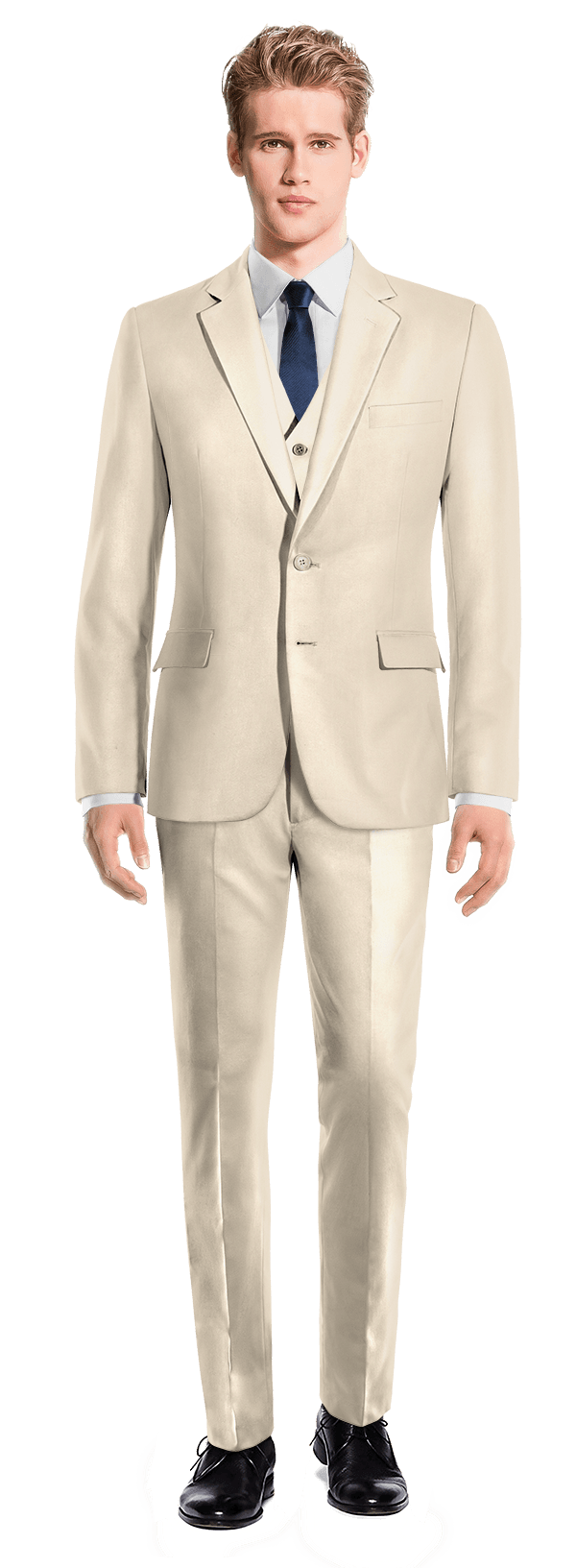 Costume beige 3 pièces en Polyester