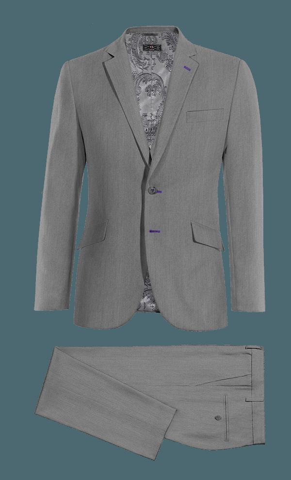 Grey 3-Piece 100% Wool Suit