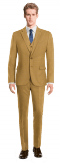 Brown 3-Piece checked 100% Wool Suit-View Front