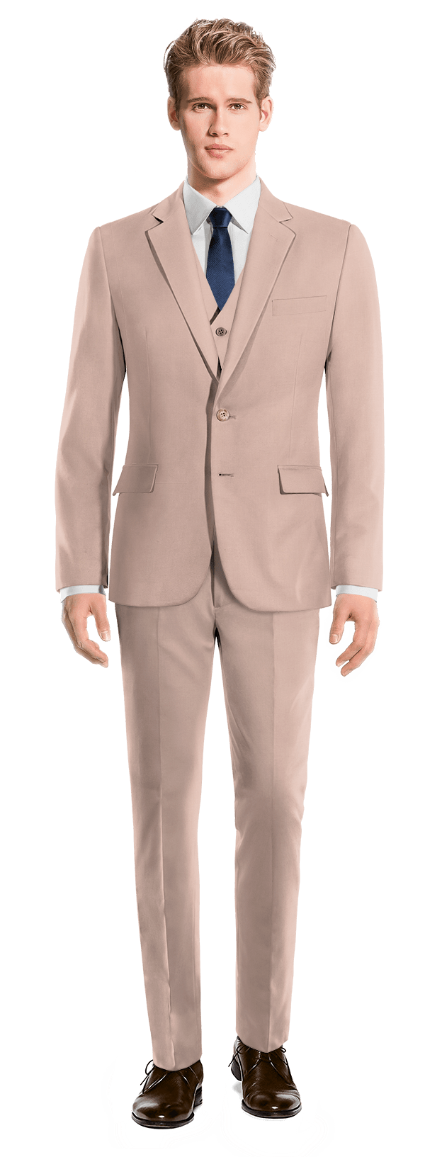 Pink 3-Piece wool Suit