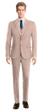 Pink 3-Piece wool Suit-View Front