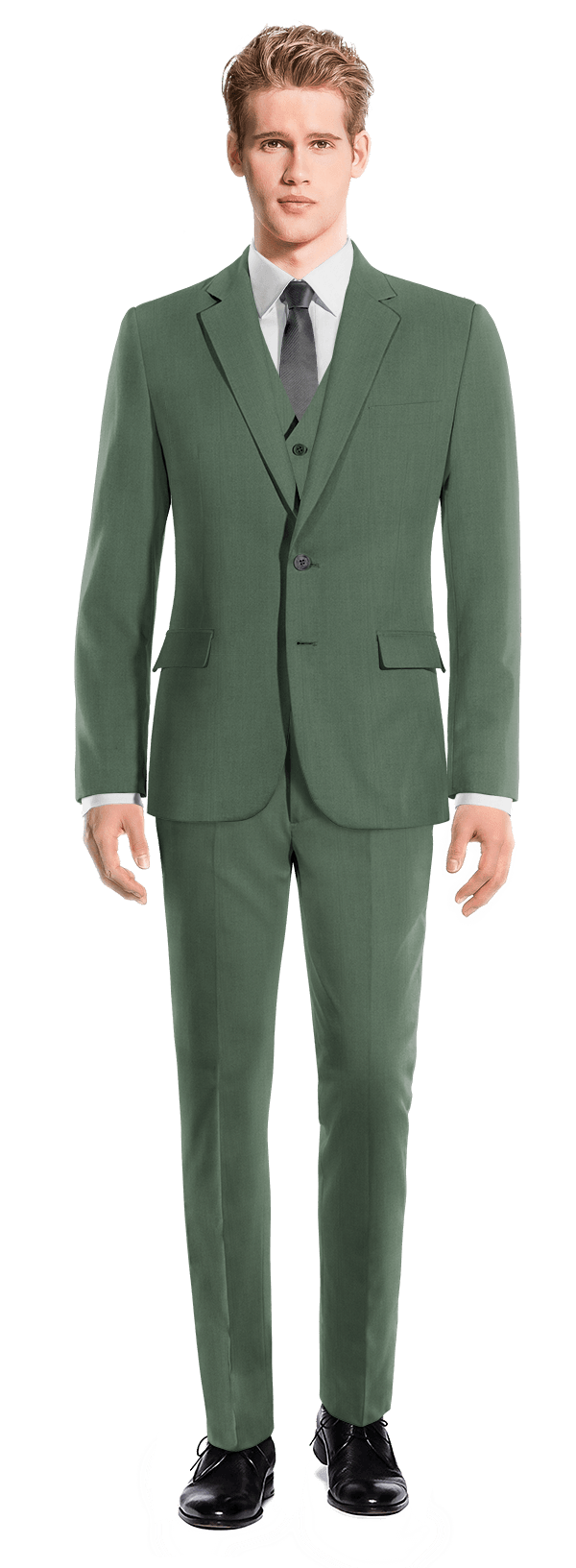Green 3-Piece wool Suit