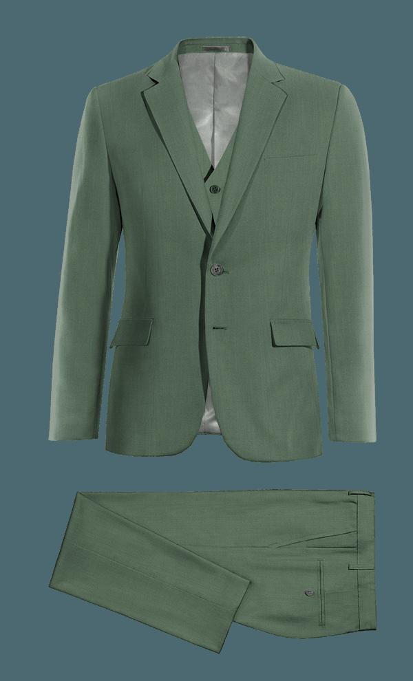 Green 3-Piece wool Suit
