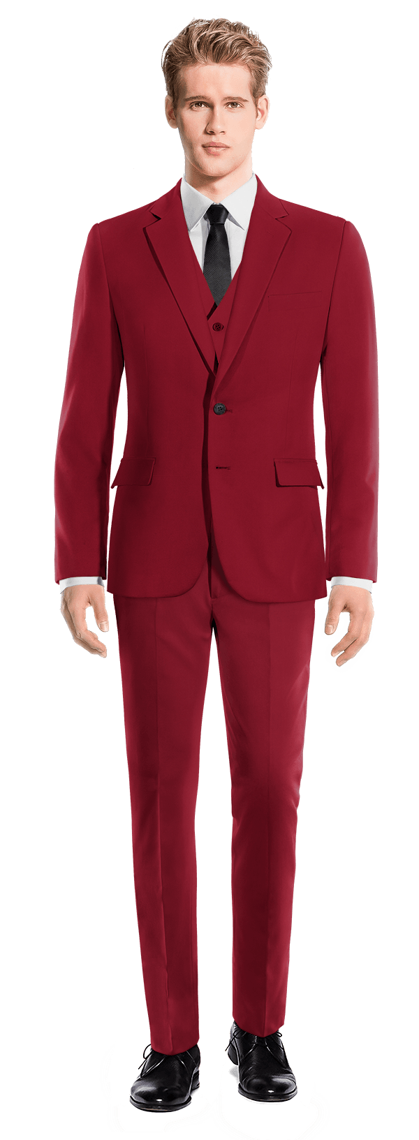 Red 3-Piece wool Suit