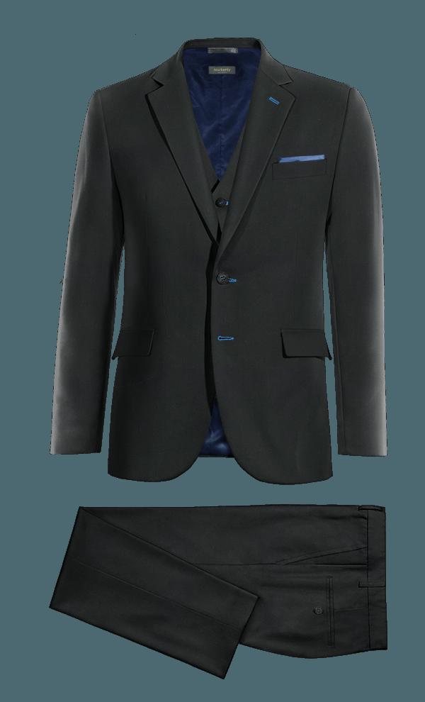 Costume noir 3 pièces en Laine